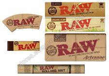 Raw Hemp Kingsize Papers + Tips, Artesano With Tray, Organic Paper, Rolling Mat