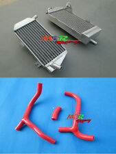 For Honda CRF450R CRF 450 2009 2010 2011 aluminum radiator silicone hose red