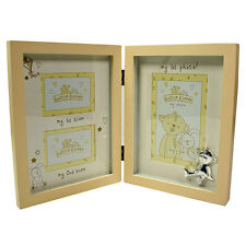 Button Corner Photo Frame 1st Scan 2nd Scan & 1st Photo Baby Gift CG783
