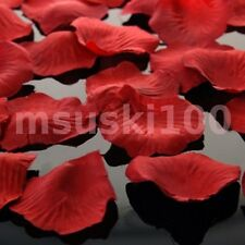 Pétalos de Rosa Seda Confeti Boda Top Decoración de mesas Grueso Material 12