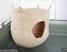 HUGE Rodent-Hive Rat Ferret Toy Hammock Bed: Luxury Cream