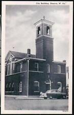 KENOVA WV City Building Police Call Bell Tower Vintage B&W Postcard Old W VA PC