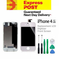 For iPhone 4S Replacement LCD Digitizer Front & Back Screen Assembly Tool White