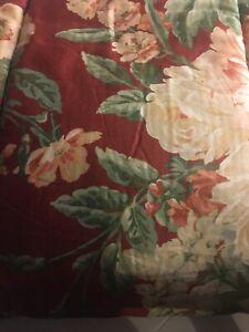 Ralph Lauren Desert Plains Cotton Sateen Queen Floral Comforter bedskirt
