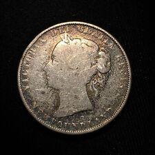 1900 Canada NEWFOUNDLAND 50 Cents KM# 6 Silver Victoria Final Year Scarce Coin