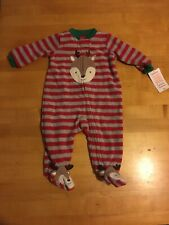 Carters Just One You Christmas Baby Reindeer Sleeper Body Suit Outfit 3 Months