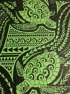 13X12X10- Large Insulated/Grocery/Tote Bag  Green And Black Honu.