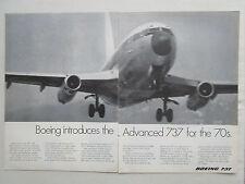 12/1969 PUB BOEING ADVANCED 737 AIRLINER AIRLINES ORIGINAL AD