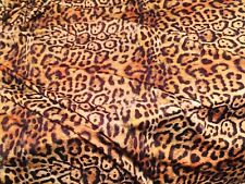 LEOPARD Animal Print Lycra Fabric 4 Stretch Dress Bikini Material -175cm wide