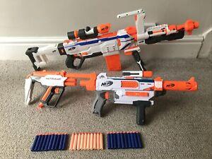 Nerf Modulus Blaster Gun Bundle Regulator Mediator Attachments Clips & 30 Darts