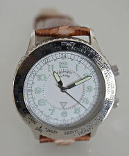Montre Nepro Homme Sport - Swiss Alarm - Bracelet Cuir - Boîtier Acier Inox