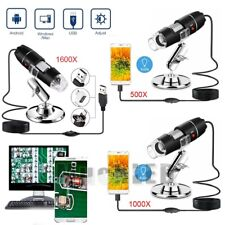 1000/1600X Digital 8 LED USB Zoom Microscope Magnifier Endoscope Camera & Stand