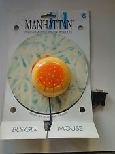 SERIAL MOUSE VINTAGE BURGER MOUSE 9 pin + mouse pad