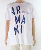 Armani Exchange Mens T-Shirt White Size 2XL Graphic Tee Logo Printed $50- #225