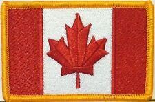 CANADA Stargate Atlantis TV Flag Iron On Patch Military Gold Border Version #12