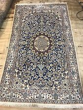 Part Silk Persian Naien Rug Size:205x125 Cm Handmade Carpet