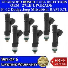 8X OEM Denso Upgraded 19LB 12 Hole Nozzle Fuel Injectors For 2000-03 Dodge 4.7L