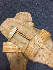 BUFFALO SANDALS Jesus CREEPERS Light Handmade SLIPPER TOE RING SHOES Flats 10