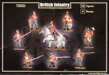 MARS 72025 NAPOLEONIC BRITISH INFANTRY 32 UNPAINTED Plastic Figures 1/72 Airfix
