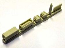 Milicast ACC89 1/76 Resin WWII Ammunition Boxes+ for 155mm Howitzer Shells
