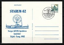 Norway, 1982 cancel. Starum `82 Scout Cachet on Postal Card. First day cover