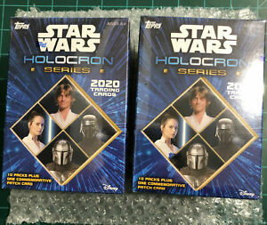 2020 TOPPS STAR WARS HOLOCRON SERIES FACTORY SEALED BLASTER BOXES (TWO BOX LOT)