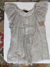 BCBG Maxazria~Beige/Tan Tencel Summer Top size Small
