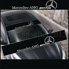 Reflective AMG Front Windshield Decal Vinyl Car Stickers for BENZ Auto Window De