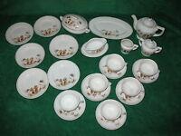 Vintage Childs toy dish set / porcelain / Japan 1950s / 24 pieces / good cond