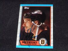 Boston Bruins Bob Sweeney Signed 1989/90 Topps Card #135  TOUGH  SR