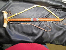 Navajo Peace Pipe Deer Antler Handmade Indian artifact Wood Leather Beads