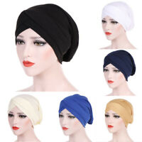 Women Muslim Turban Hat Head Wrap Stretchable Chemo Hijab Cap Fashion Headwrap
