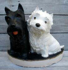 Vintage 1950s BLACK & WHITE Scotch Whisky Scottie Dog Store or Bar Display Stand