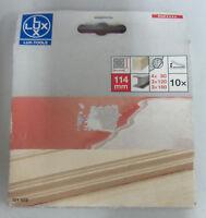 Lux Tools fogli carta abrasiva quadrata 114 mm x levigatrice 10 PZ x legno ferro