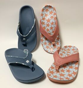 Spenco Orthotic Thong Flip Flops Sandals TWO PAIR sz 7 B worn once!