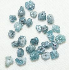 0.90 ct lot rare natural Greenish Blue raw diamond rough beads for jewelry N R56