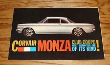 Original 1960 Chevrolet Corvair Monza Club Coupe Sales Brochure 60 Chevy