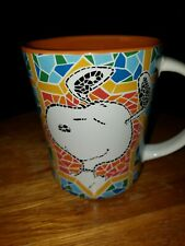 So cute Peanuts Snoopy Mosaic Colorful Coffee Mug Cup