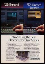 1983 Osborne portable Executive Series Computer photo vintage print ad