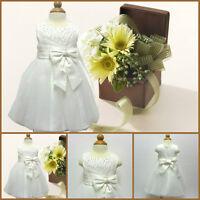 Infant Toddlers Ivory Christening Flower Girls Dresses SIZE 0-3-6-9-12-18 Months