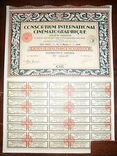 ACTION / CONSORTIUM INTERNATIONAL CINEMATOGRAPHIQUE PARIS 1928
