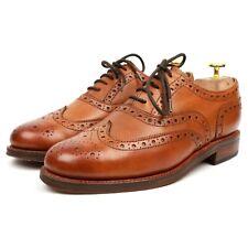 Grenson 'Stanley' Tan Brown Leather Brogues UK 7 G