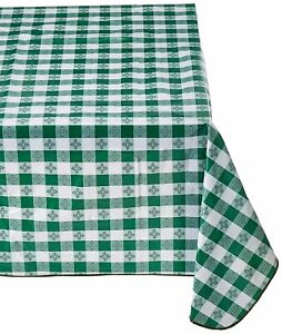 Tavern Gingham Checker Plaid Design Restaurant Style Tablecloth for Picnic/Party