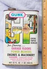 Vintage Gunk General Purpose Degreaser Can Advertising Packaging mv