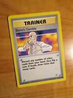 NM(Unlimited) Pokemon BLAINE'S GAMBLE Card GYM HEROES Set 121/132 COMMON Trainer