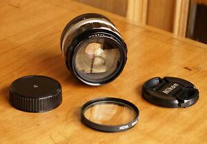 Nikon Nikkor-O 35mm f/2.0 Lens Nikon F w/Caps & Filter & Case