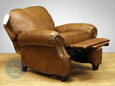 NEW Barcalounger Longhorn II Chaps Saddle Leather Manual Recline Chair Recliner