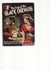 REX STOUT - THE CASE OF THE BLACK ORCHIDS  pulp crime fiction SCARCE