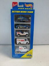 Hot Wheels 5 Car Gift Pack Action News Team w Jeep