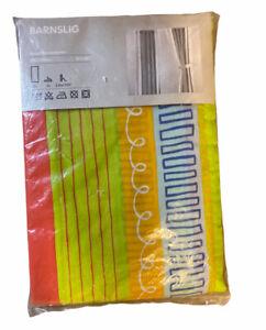 "Ikea Barnslig Eva Lundgreen Striped Curtain Panels New In Package 47"" x  98"""